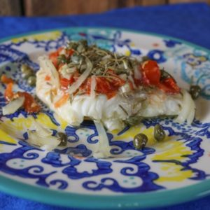 Mediterranean Baked Cod