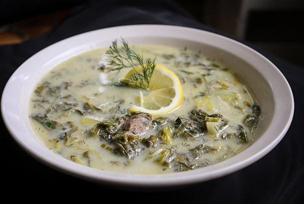 Greek Easter Lamb Soup with Egg Lemon Sauce