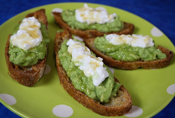 Avocado Toast recipe with Greek Yogurt and Honey