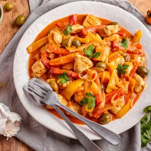 Instant Pot - Moroccan Chicken Tagine with Green Olives, Peppers and Lemon