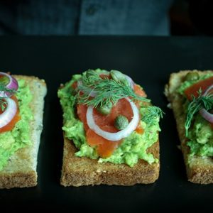 Avocado Toast with Smoked Salmon, Fresh Dill and Capers