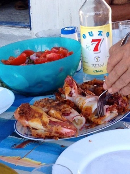 calamari chios greece