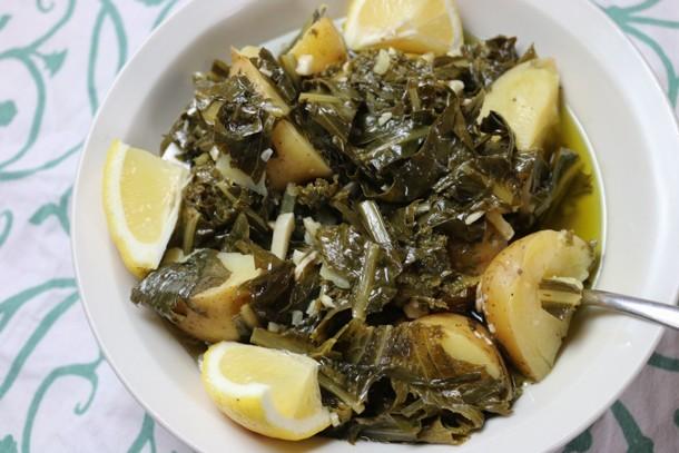 Instant Pot Recipe Horta and Potatoes mediterranean diet recipes