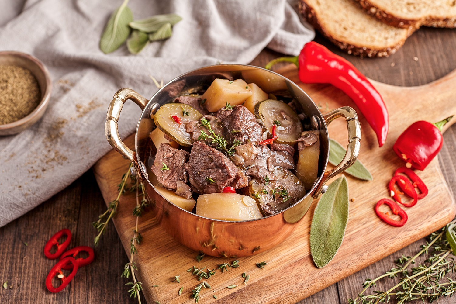 Intant Pot Beef Stew with Sage and Red Wine