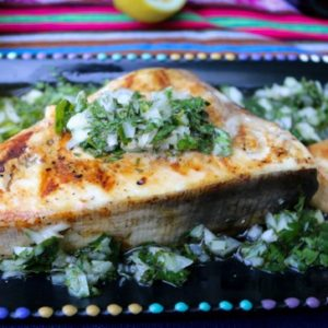 Grilled Swordfish with Lemon Parsley Topping