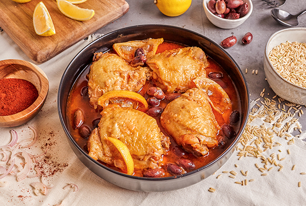 Instant Pot Chicken with Olives, Shallots and Wine