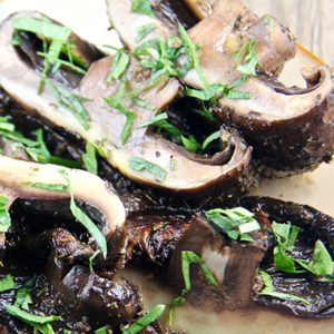 Grilled Portobello Mushrooms with Garlic Balsamic Marinade