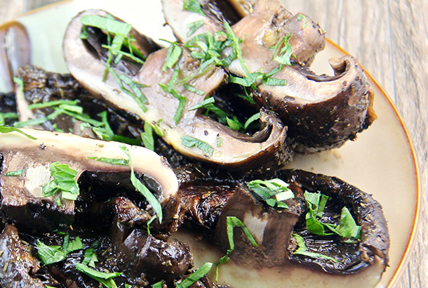 Grilled Portobello Mushrooms with Garlic Balsamic Marinade