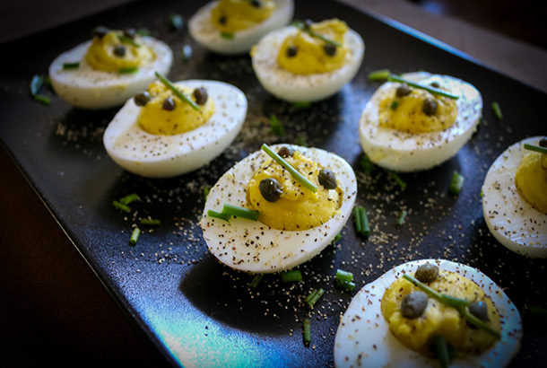deviled eggs no mayo