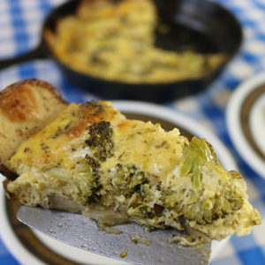 Broccoli Quiche with Roasted Potato Crust