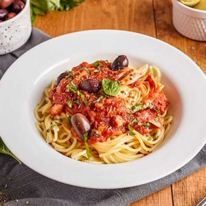 Instant Pot Tomato Sauce with Olives and Artichokes