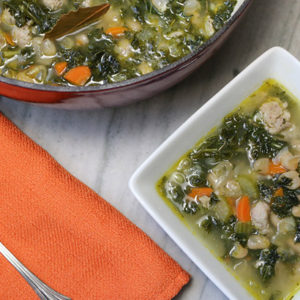 Tuscan White Bean Soup with Sausage and Kale