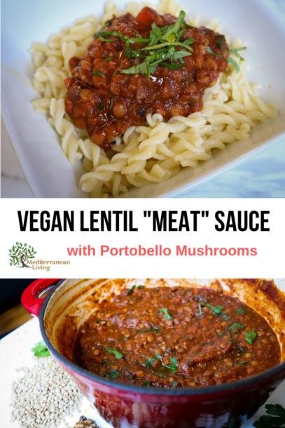 """Vegan Lentil Recipes: Vegan """"meat"""" sauce"""