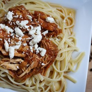 greek slow cooker pasta sauce with chicken (greek kokkinisto)