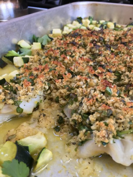 sheet pan baked haddock