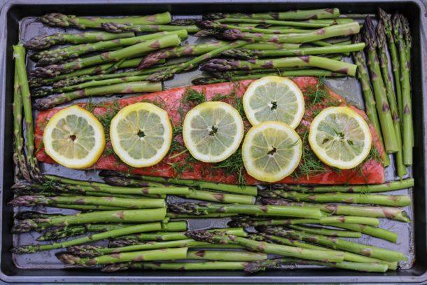 sheet pan salmon