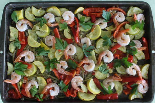 sheet pan shrimp scampi