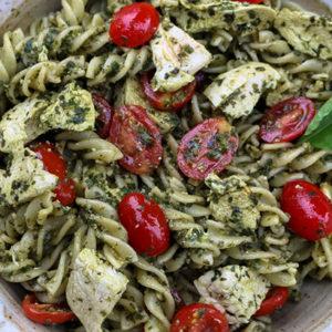 Mediterranean Chicken Pesto Pasta
