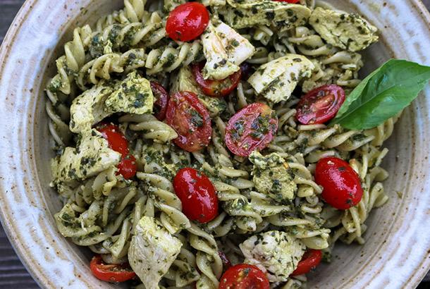 Mediterranean Chicken Pesto Pasta Mediterranean Living
