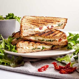 Healthy Grilled Cheese with Feta and Sun Dried Tomatoes