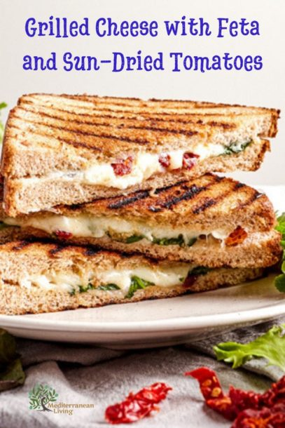 Grilled Cheese with Feta and Sun-Dried Tomatoes