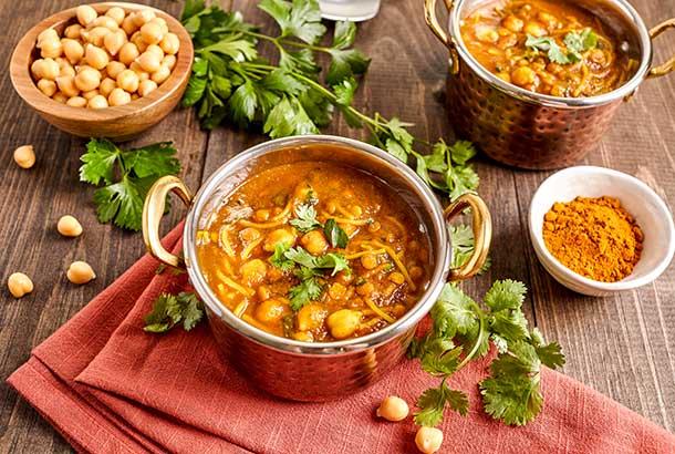 Moroccan Harira (Lentil, Chickpea and Tomato Soup)