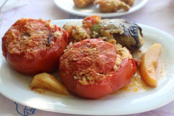 Ikaria Stuffed Tomatoes