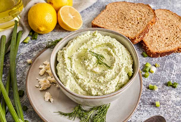 Whipped Feta with Lemon and Dill