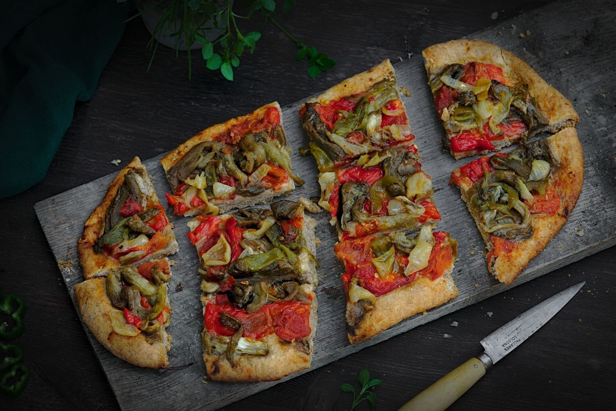 Roasted Veggie Flatbread (Spain)