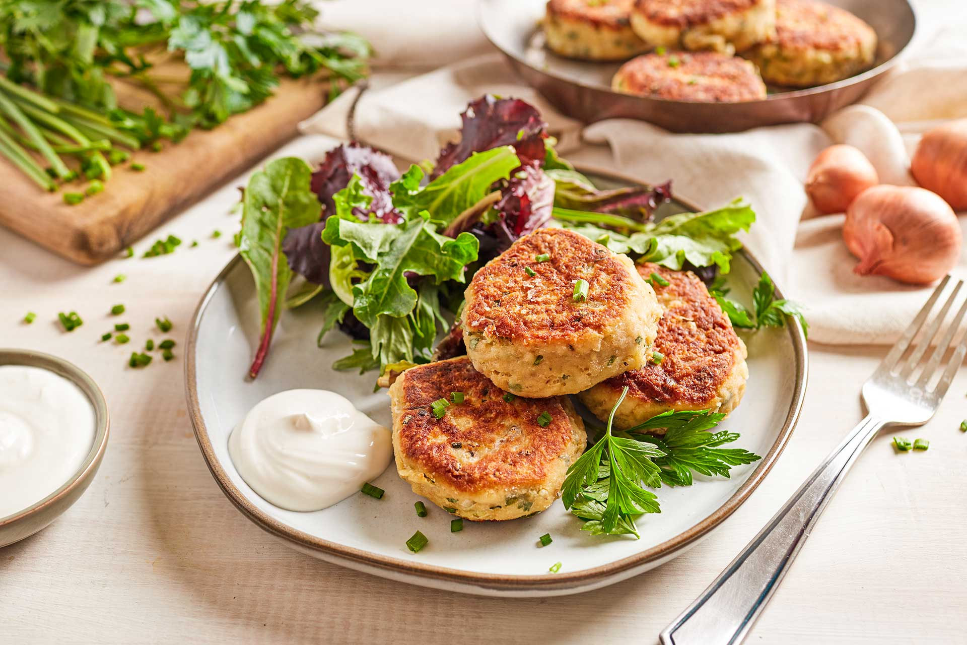 Tuna Patties Fried in Olive Oil (France)