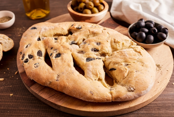 Olive Fougasse - Bread from Provence