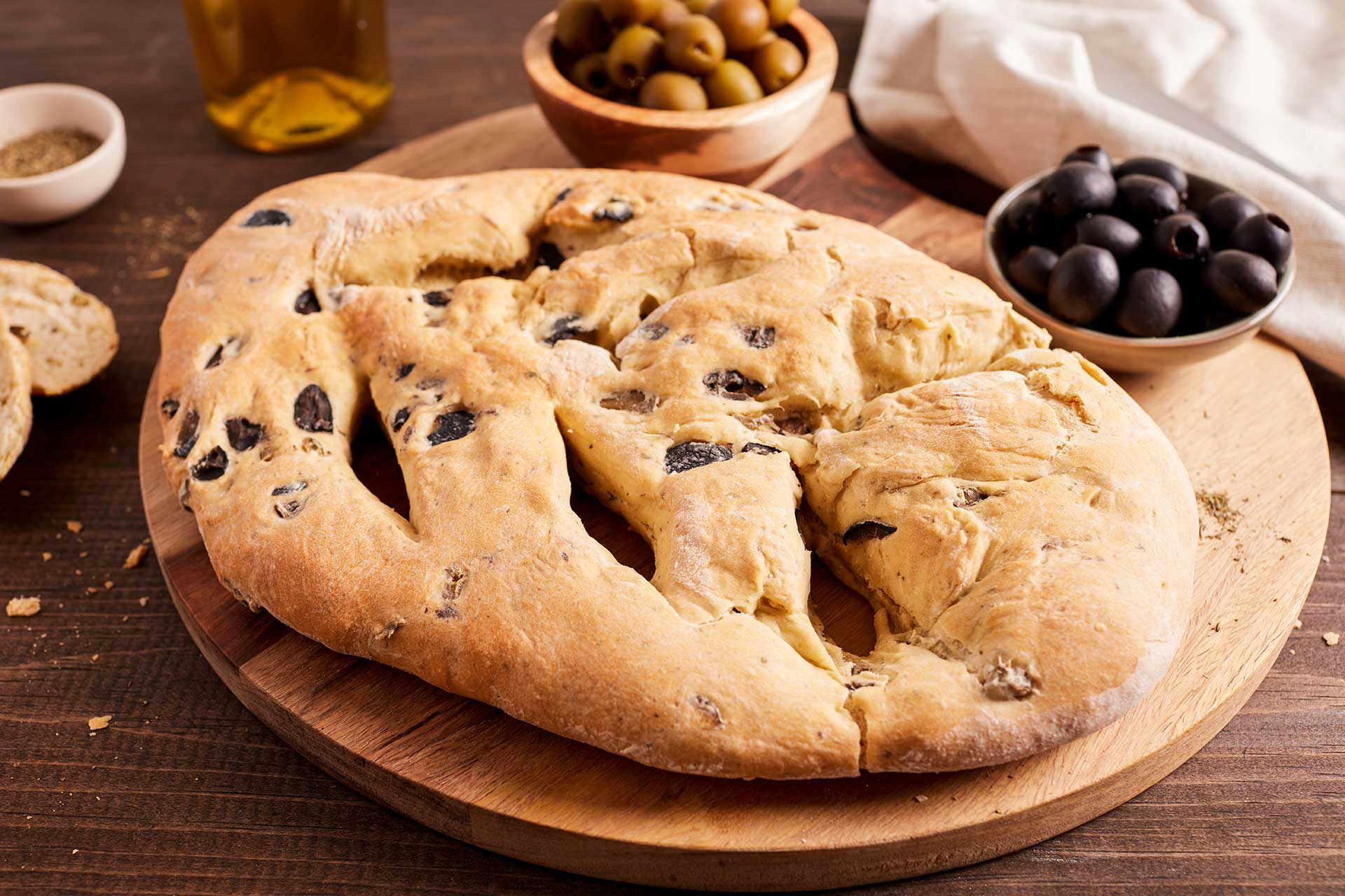 Fougasse - Olive Bread from Provence
