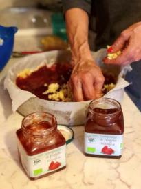 Breakfast Torta with Jam (Italy) - pressing dough