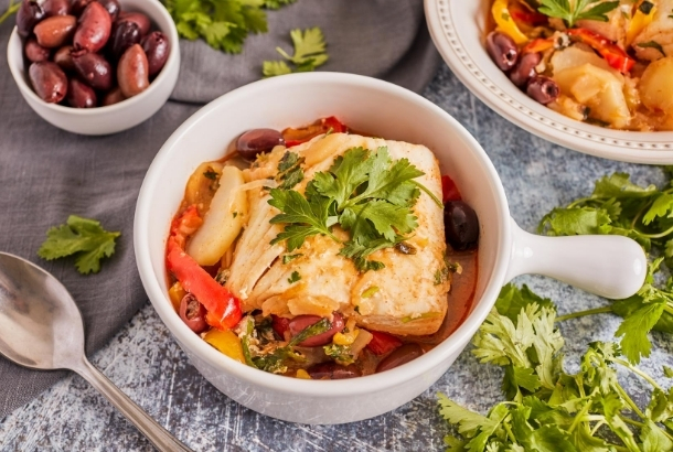 Moroccan Fish Stew with Fresh Herbs