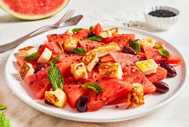 Halloumi and Watermelon Salad (Cyprus)
