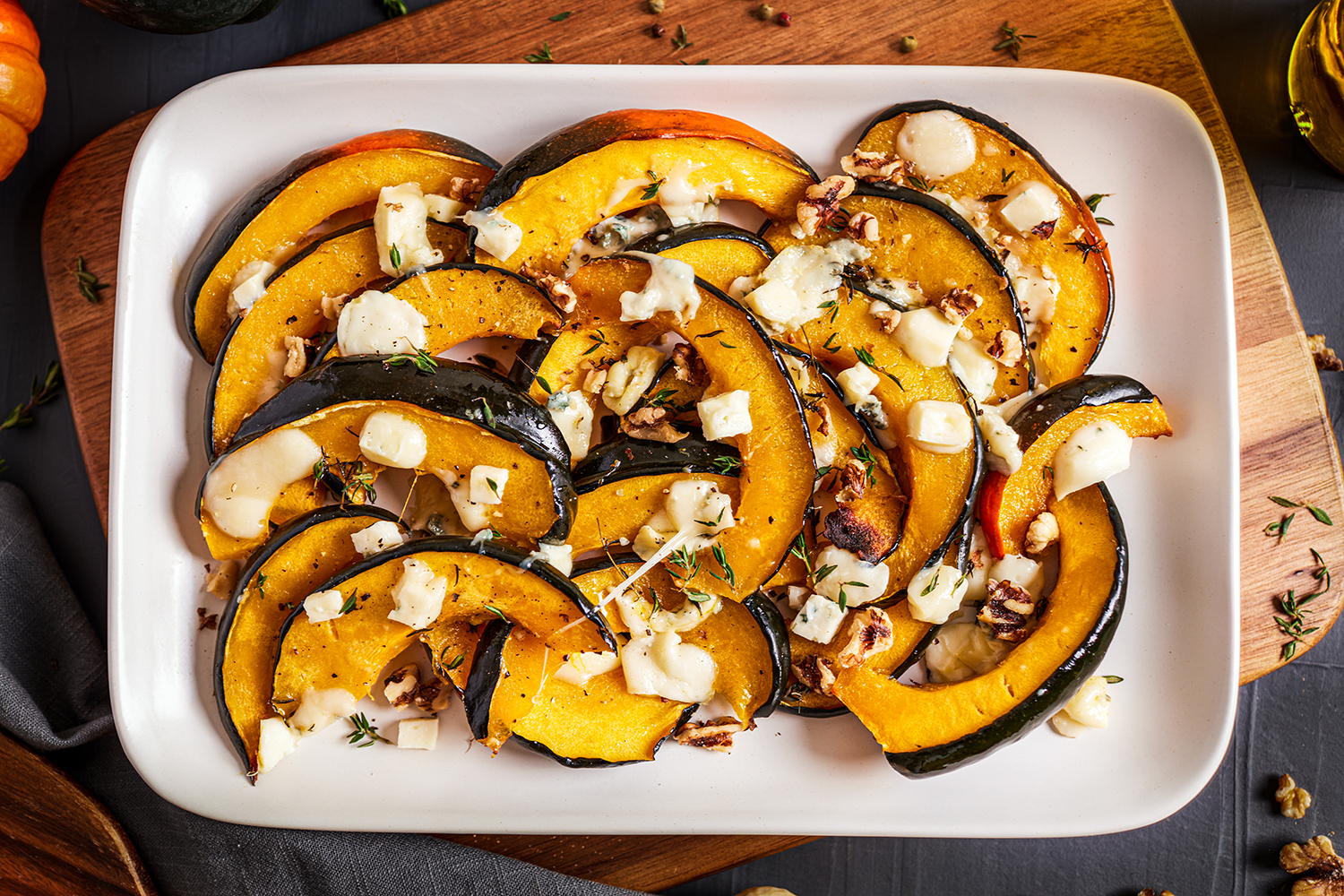 Roasted Pumpkin with Blue Cheese and Walnuts (Italy)