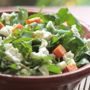 Arugula Salad with Sweet Potato (Ikaria)