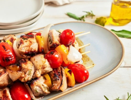 Grilled Pork Kabobs with Vegetables (Italy)